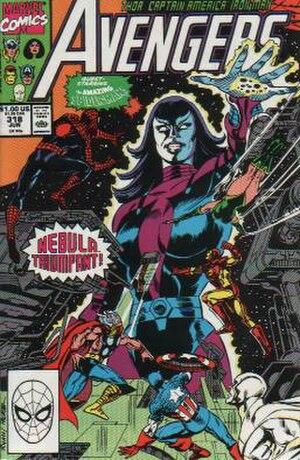 Nebula (comics) - Image: Avengers 318