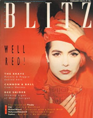 BLITZ - Front cover Feb 1986