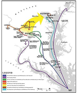 Chesapeake Bay Flotilla - Image: Chesapeake Campaign Map