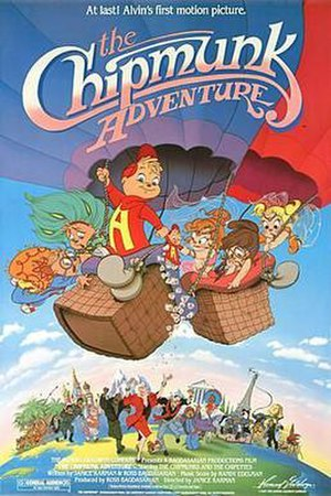 The Chipmunk Adventure - Theatrical release poster