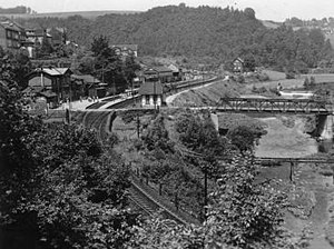 Dahlerau train disaster - Dahlerau station at the time of the accident.