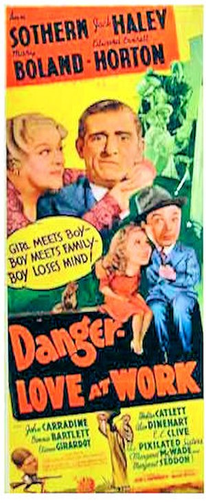 Danger – Love at Work - 1937 US Theatrical Poster