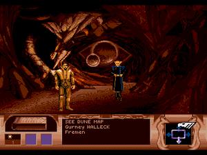 Dune (video game) - Gurney and a Fremen inside a sietch (Sega Mega-CD)