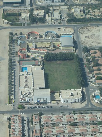English College Dubai - The English College, Dubai as seen from the air