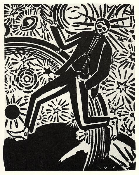 Final page from the wordless novel Passionate Journey (1919) by Flemish artist Frans Masereel.
