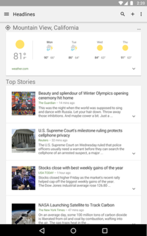 Google News & Weather - Image: Google News and Weather