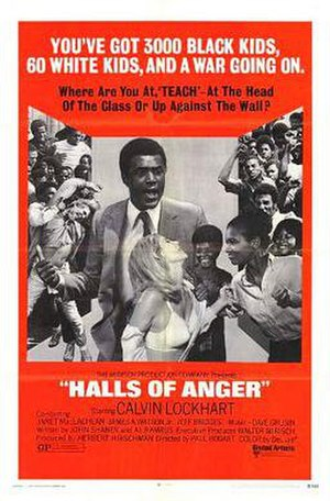 Halls of Anger - Theatrical release poster