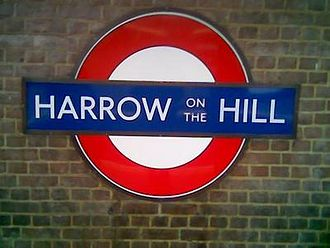 Harrow on the Hill - Harrow-on-the-Hill platform sign