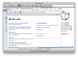 Apple Help Viewer - The Leopard implementation of the Help Viewer was met with criticism