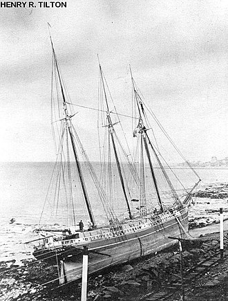 Joshua James (lifesaver) - The schooner Henry R. Tilton