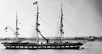 Chester, Nova Scotia - HMS Hogue, which trapped the Young Teazer before the ship exploded
