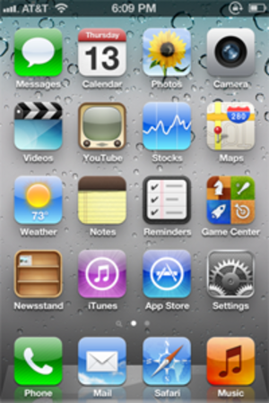 IOS 5 - Image: IOS 5 home screen