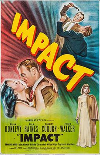 Impact (film) - Theatrical release poster