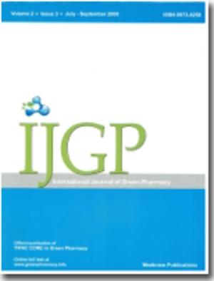 International Journal of Green Pharmacy - Image: International Journal of Green Pharmacy