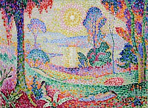 Coucher de soleil no. 1 - Image: Jean Metzinger, 1906, Coucher de Soleil No. 1 (Landscape), oil on canvas, 72.5 x 100 cm, Rijksmuseum Kröller Müller, Otterlo, Netherlands