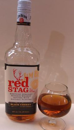 Jim Beam - Red Stag black cherry bourbon liqueur.