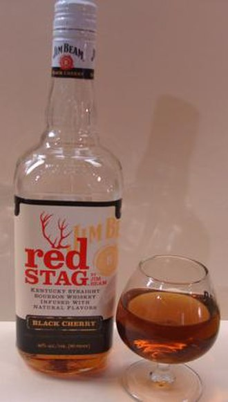 Jim Beam - Red Stag black cherry bourbon liqueur