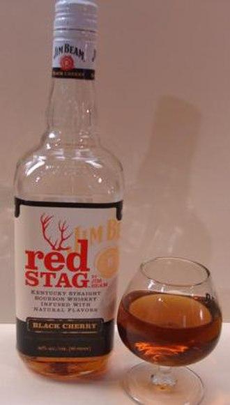 Jim Beam - Red Stag black cherry bourbon liqueur.