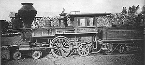 4-2-2 - T. D. Judah, a locomotive rebuilt as a 4-2-2 by Central Pacific Railroad.