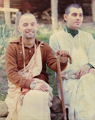 Kirtanananda Swami - Kirtanananda Swami and New Vrindaban Community president Kuladri das, c. mid-1970s