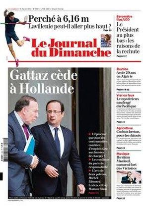 Le Journal du Dimanche - Image: Le Journal du Dimanche front page