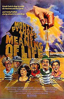 <i>Monty Pythons The Meaning of Life</i> Film by British comedy group Monty Python
