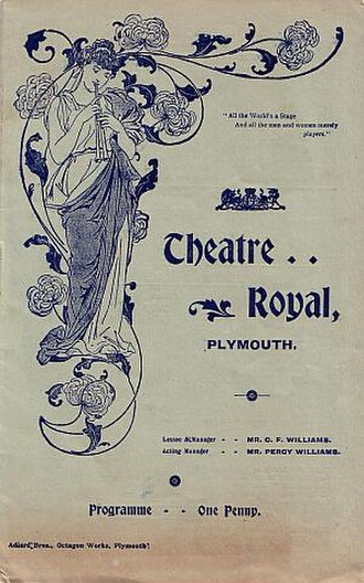 The Messenger Boy - Programme from Plymouth tryout