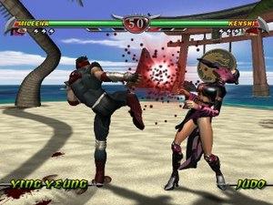 Mortal Kombat: Deception - A fight between Kenshi and Mileena
