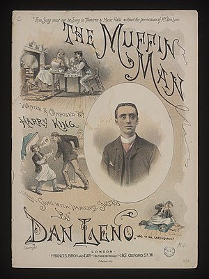 The Muffin Man - Sheet music for Harry King's setting of the song (1889)