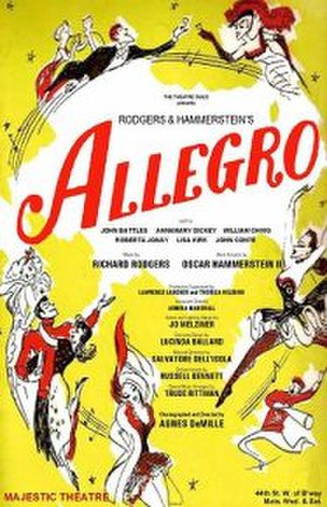 Allegro (musical) - Original Broadway poster (1947)