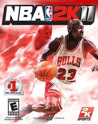 NBA 2K11 - Cover art featuring Michael Jordan