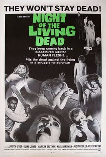 <i>Night of the Living Dead</i> 1968 film directed by George A. Romero