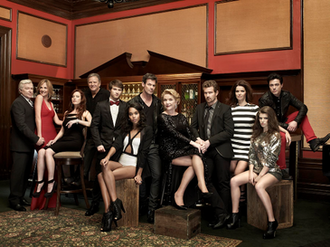 One Life to Live - The new cast of Prospect Park's One Life to Live revival. (l-r) Jerry verDorn, Kassie DePaiva, Melissa Archer, Robert S. Woods, Andrew Trischitta, Laura Harrier, Tuc Watkins, Erika Slezak, Josh Kelly, Florencia Lozano, Kelley Missal, Robert Gorrie.