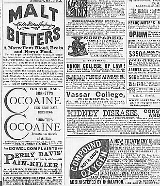"""Andrew J. Aikens - Generic advertising of medical nostrums and other products typical of that appearing on a preprinted """"patent inside"""" sheet."""
