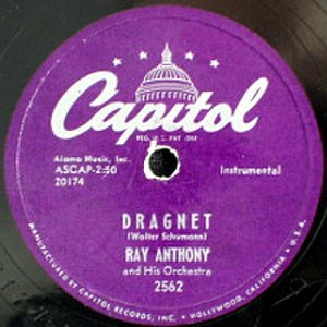 Dragnet (theme music) - Image: Ray Anthony Dragnet 78rpm label