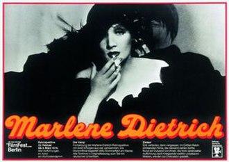 28th Berlin International Film Festival - 1978 Retrospective poster, featuring Marlene Dietrich.