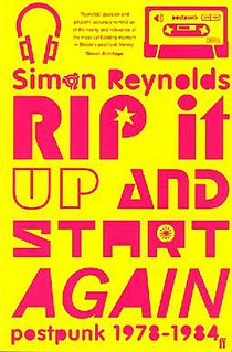 <i>Rip It Up and Start Again</i> book by Simon Reynolds