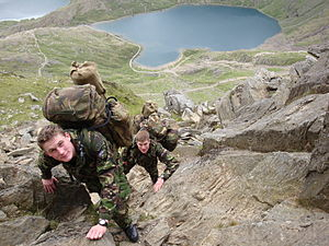 Royal Marines Reserve - RMR Mountain training in Wales 2008