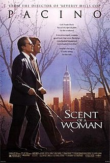 <i>Scent of a Woman</i> (1992 film) 1992 American film directed and produced by Martin Brest