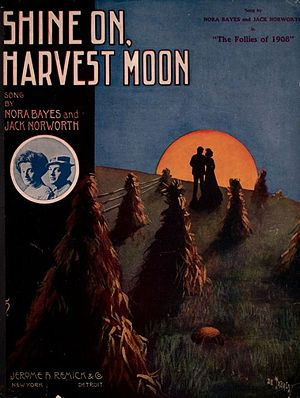 Shine On, Harvest Moon - Cover, sheet music, 1908