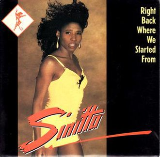 Right Back Where We Started From - Image: Sinitta Right Back
