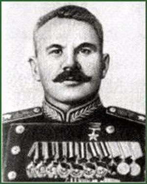 350th Rifle Division (Soviet Union) - Postwar photo of Maj. Gen. G.I. Vekhin, Hero of the Soviet Union