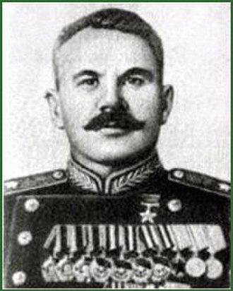 350th Rifle Division - Postwar photo of Maj. Gen. G. I. Vekhin, Hero of the Soviet Union
