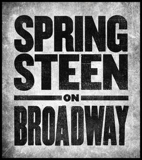 <i>Springsteen on Broadway</i> concert residency by Bruce Springsteen in New York City
