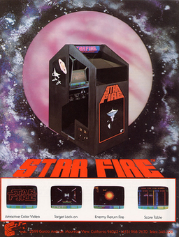 First alternate arcade flyer of Star Fire.