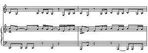Stole (song) - A portion of the song's sheet music.
