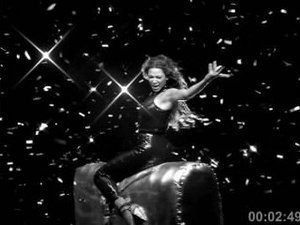 Suga Mama - Knowles riding a mechanical bull in the music video