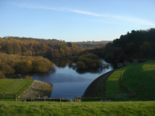 Swinsty Reservoir lake in the United Kingdom