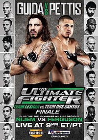 A poster or logo for The Ultimate Fighter: Team Lesnar vs. Team dos Santos Finale.