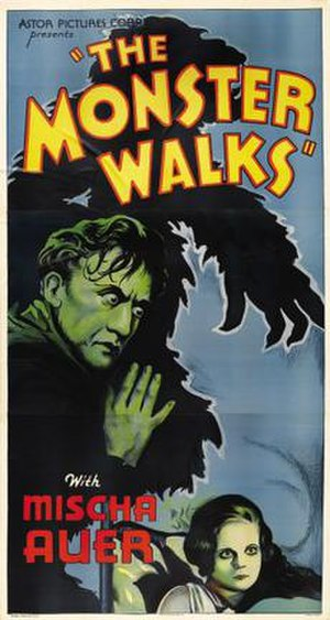 The Monster Walks - Film poster for The Monster Walks from Astor Pictures re-release (1938)
